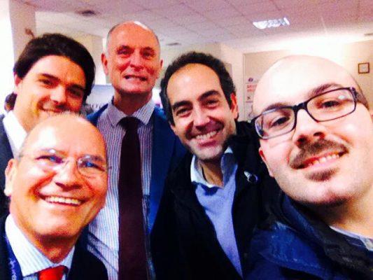 Con i Prof. Chris Maher, Mauro Cervigni, Dott. Giuseppe Campagna